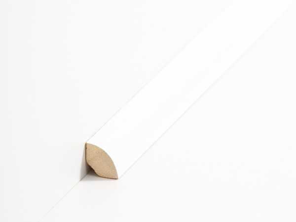 Südbrock Viertelstab weiß 14x14mm | Echtholz Viertelstäbe weiß lackiert