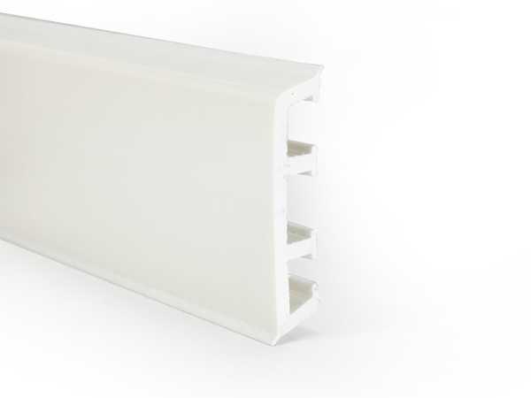 Primo pvc Fußleiste nordic weiß mit Dichtungslippe - 15x65mm
