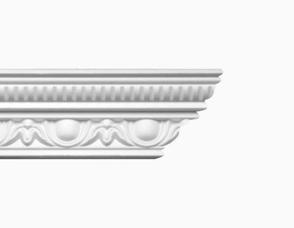 Stuckleisten Marie 100x100mm |weiße Deckenleisten aus Polystyrol